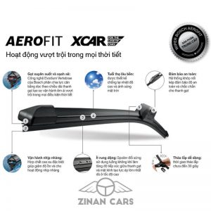 Cần gạt nước mưa ô tô Bosch Aerofit 14-28 inch loại bỏ nước và bụi (2)