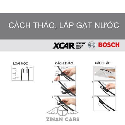 Cần gạt nước mưa ô tô Bosch Aerofit 14-28 inch loại bỏ nước và bụi (3)