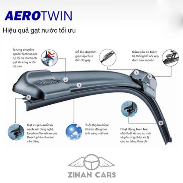 Chổi gạt nước mưa Aerotwin Plus từ 15-30 inch phù hợp mọi loại xe (2)